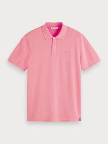 Pink Dyed Polo Shirt