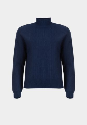Pippa knit sweater with high collar