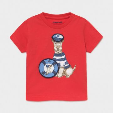 Short sleeve t-shirt with interactive print