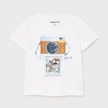 Short sleeve T-Shirt with lens print