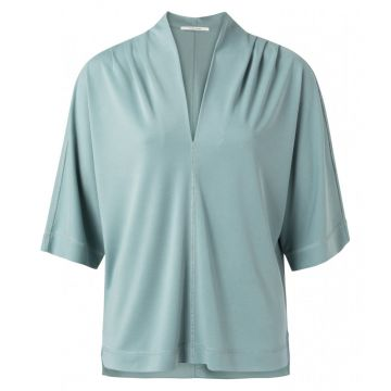 V neck top with pleat detail