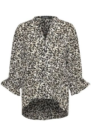 Ananya blouse in an all over animal print