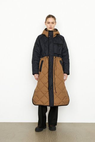 Prudence quilted coat - with hood