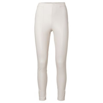High waisted trousers in a PU fabric