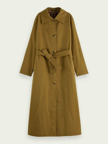 Scotch & Soda Reversible trench coat with belt detail
