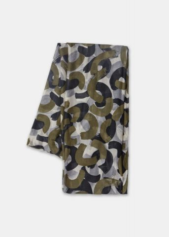 Woven scarf - Military Olive print