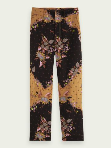 Scotch & Soda Straight leg trousers in a mixed print
