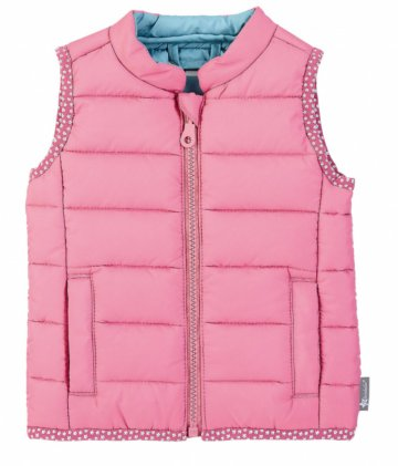 Puffer gilet with trim detail