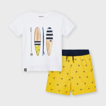 Surf print set - shorts and t-shirt