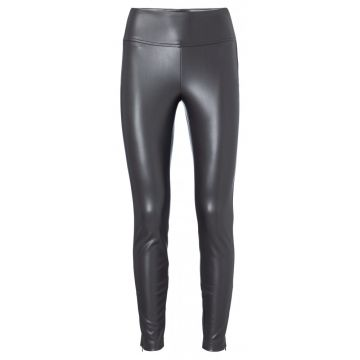 Stretch faux leather trouser