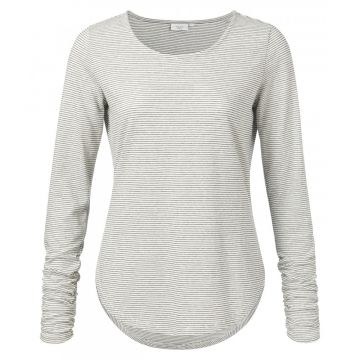 Stripe long sleeve t-shirt - grey