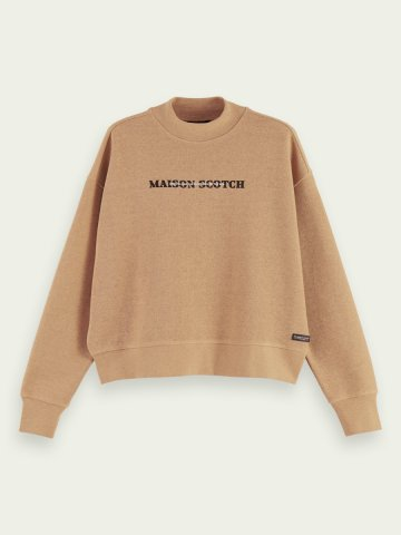 Relaxed fit sweater with graphic