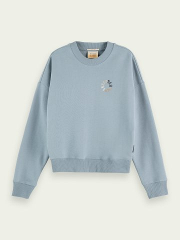 Organic cotton sweatshirt in a relaxed fit