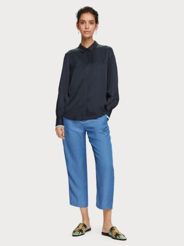 Tailored linen blend trousers