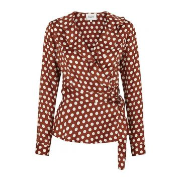 Spotty Wrap Blouse