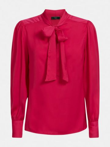 Bow collar blouse - pink