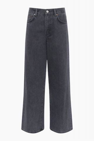 Piper wide leg jeans in an organic denim - washed black