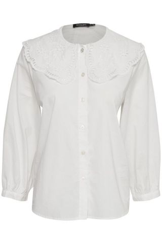 Aidine Shirt with lace collar