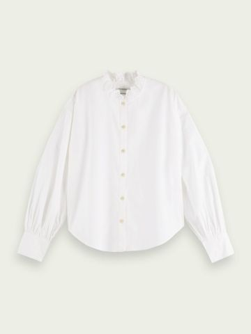 Scotch & Soda shirt with broderie anglaise collar