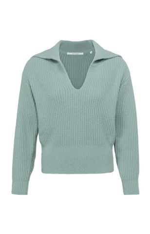 YaYa knitted sweater with wide collar