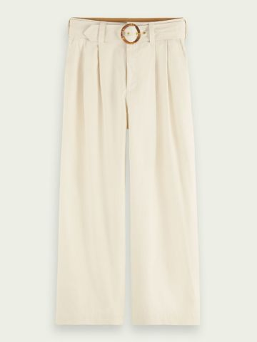 Scotch & Soda Wide leg trousers with bamboo buckle