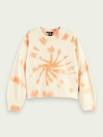 Tie dye organic cotton sweatshirt