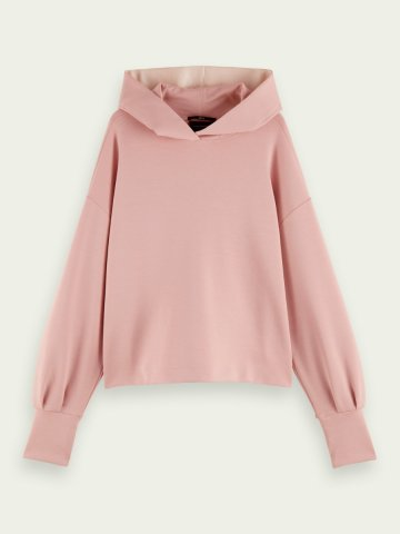 Hoodie with a dropped shoulder