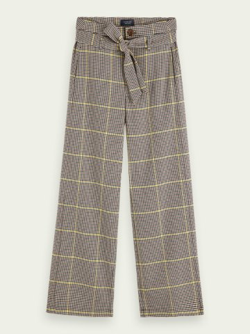 Checked trouser - high rise and wide leg