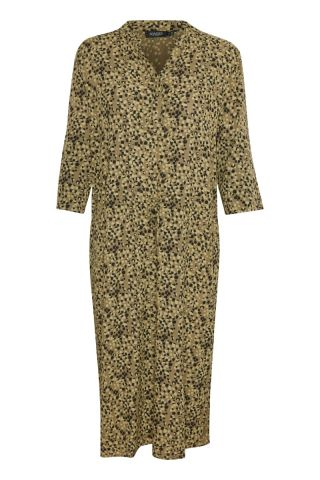 Zaya dress in an all over abstract print